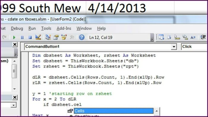 Worksheet In Vba Excel
