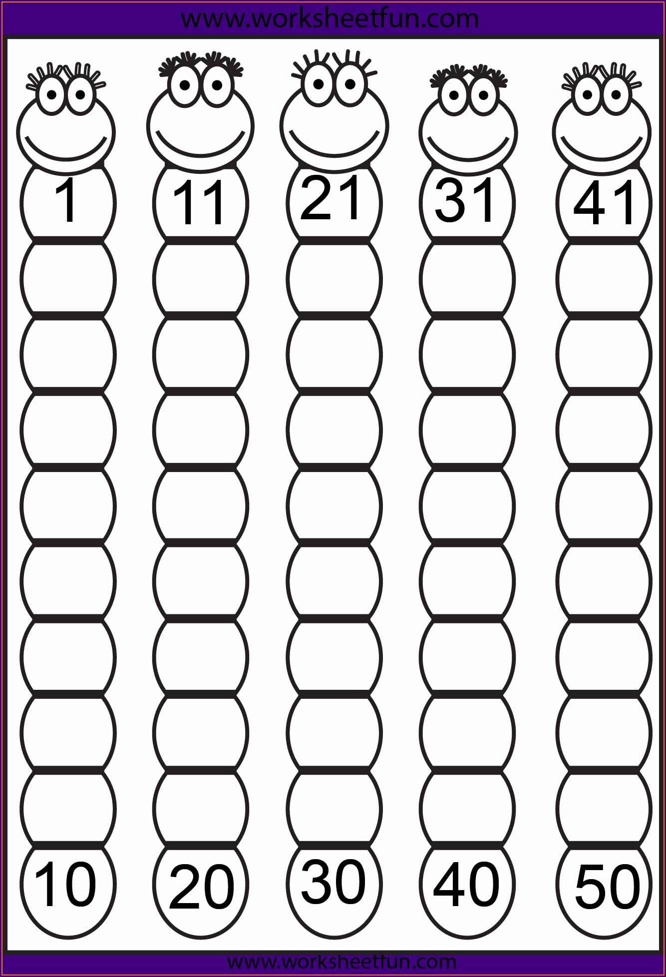 Worksheet Numbers 1 50