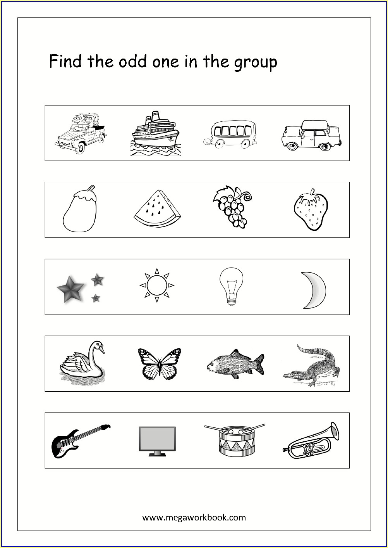 Worksheet Of English For Pre Nursery