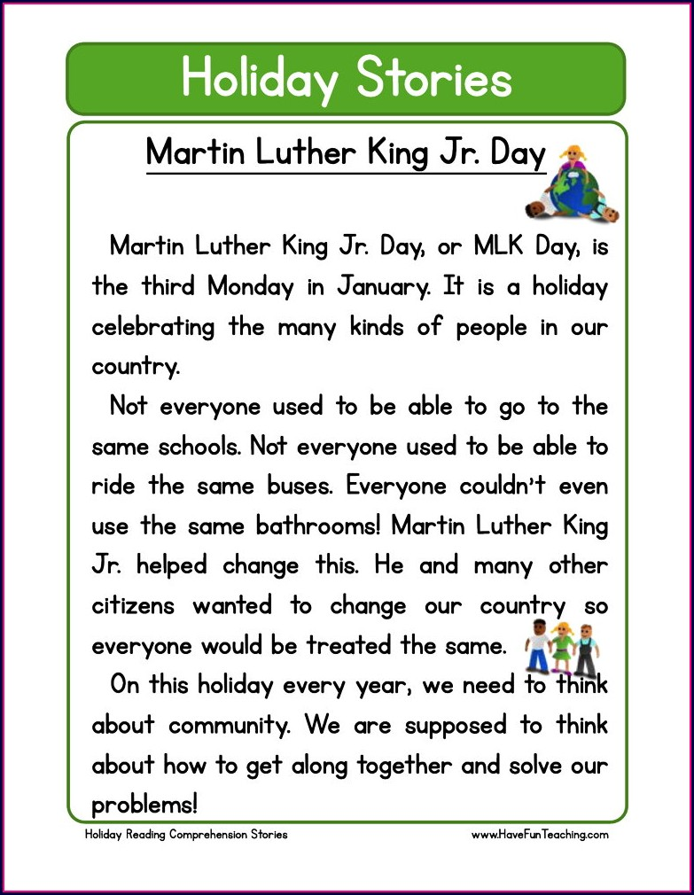 Worksheet On Dr Martin Luther King Jr