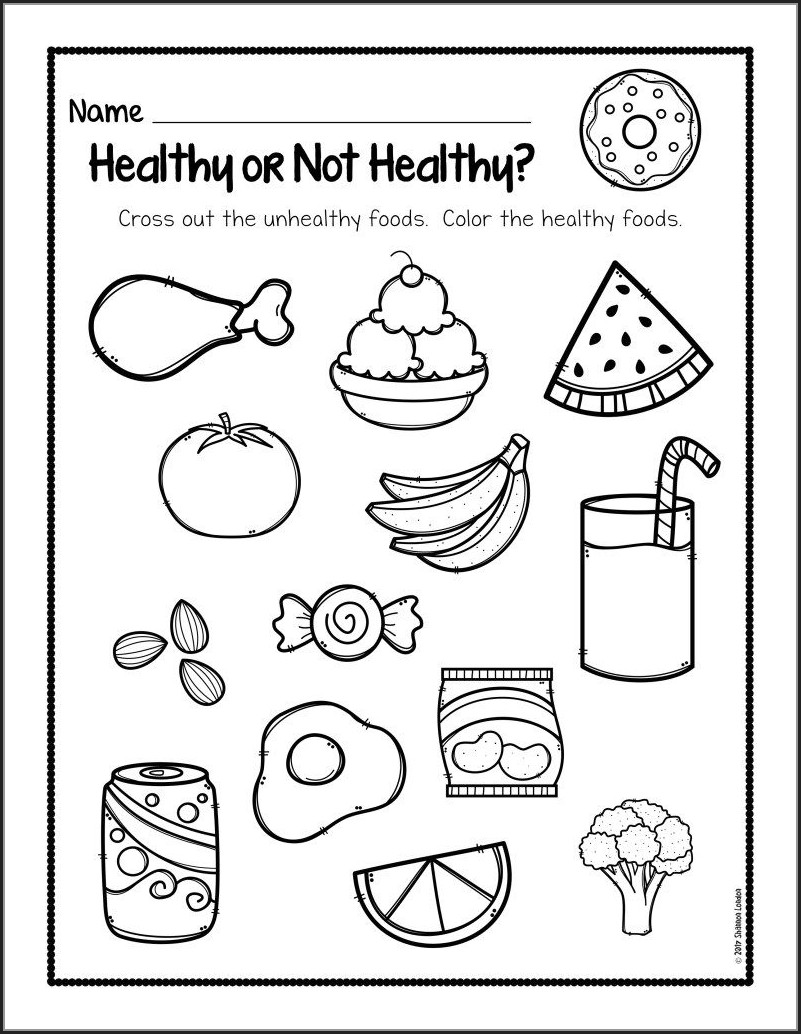 Worksheet On Food And Health Grade 5