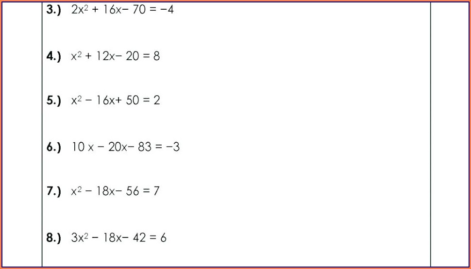 Worksheet On Order Of Operations With Exponents