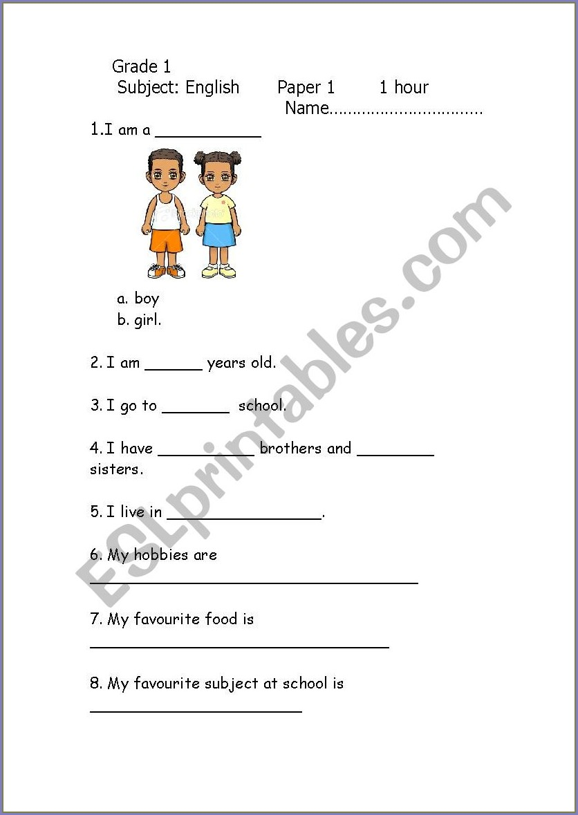 Worksheet On Our Food For Class 1