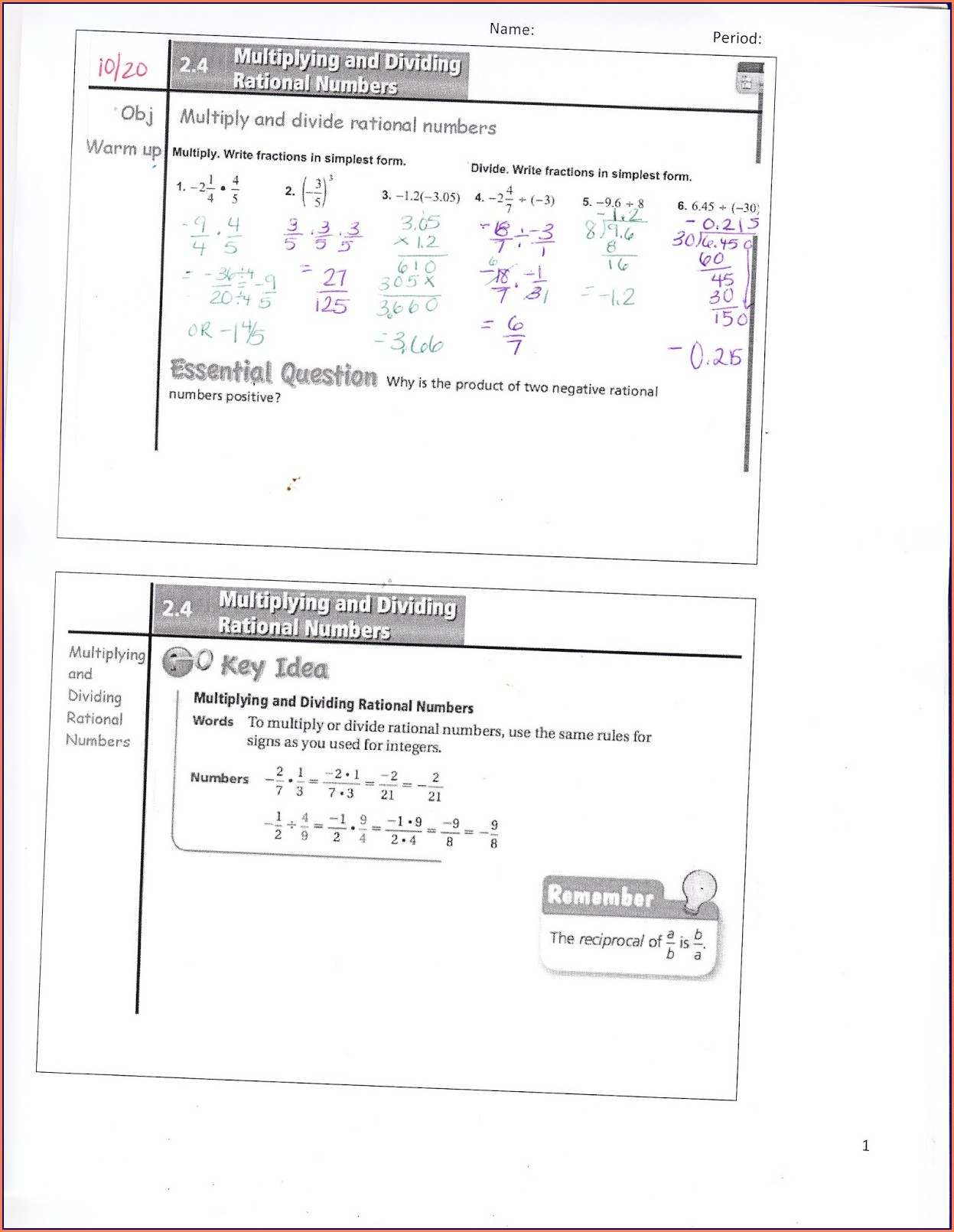 Worksheet On Word Problems On Rational Numbers