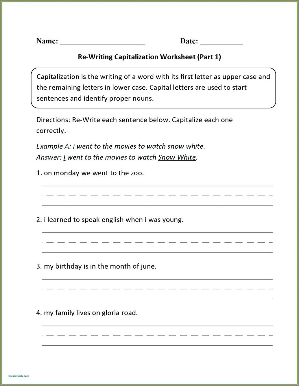 Writing Dialogue Worksheet 4th Grade