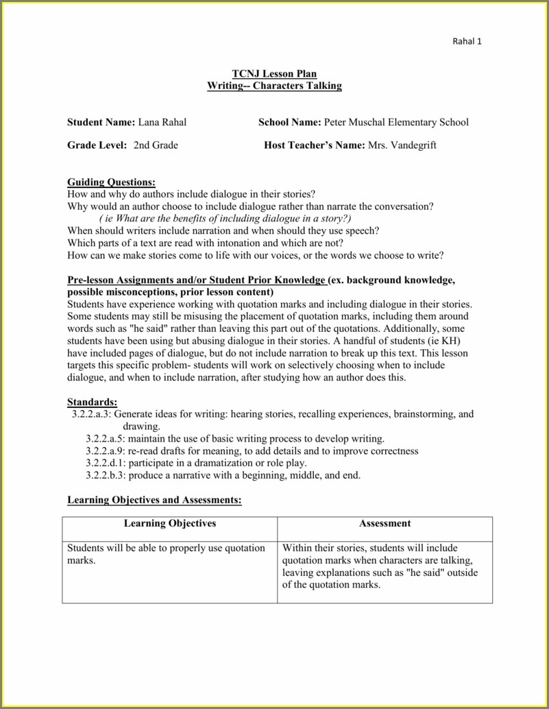 Writing Dialogue Worksheet Middle School