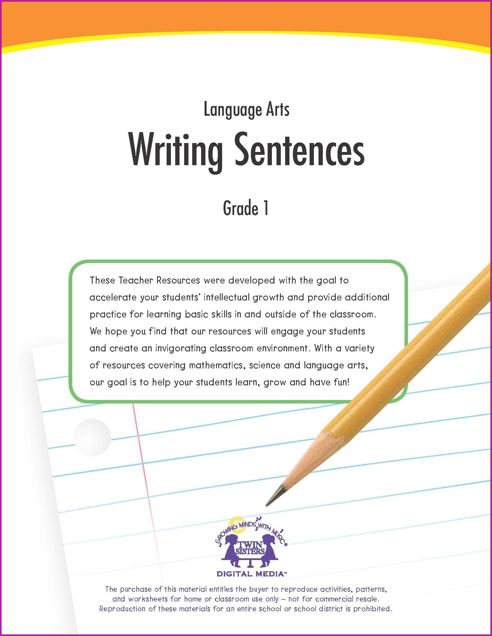 Writing Grade 7 Language Worksheets