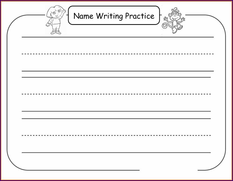 Writing Name Worksheets For Preschoolers