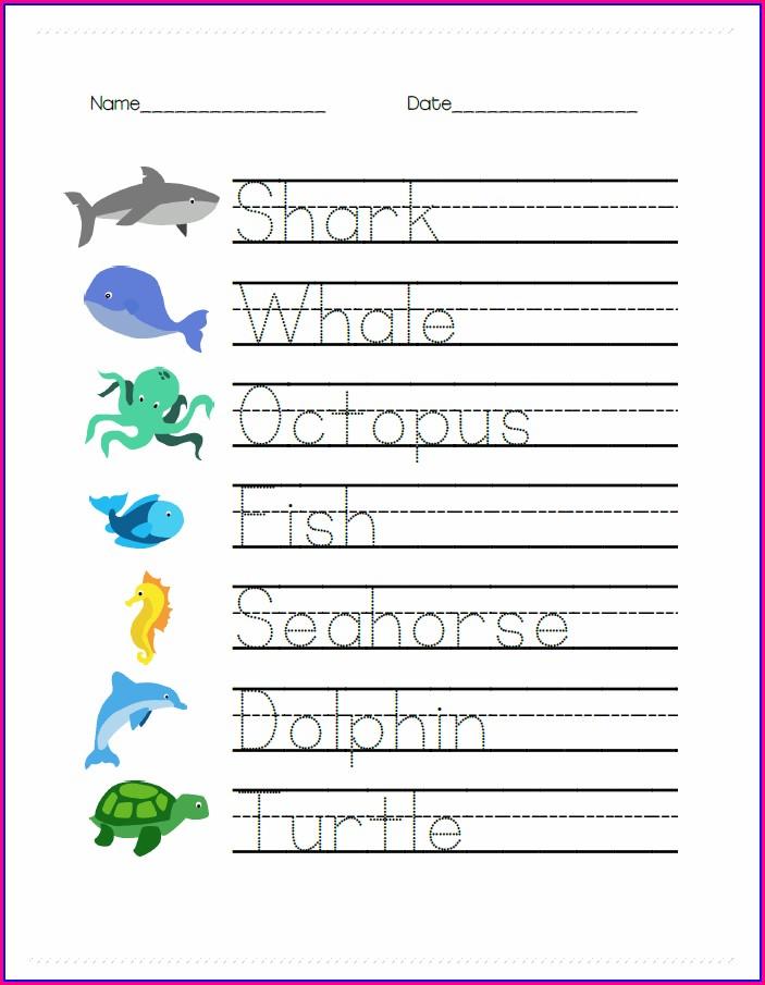 Writing Names Worksheet Pre K