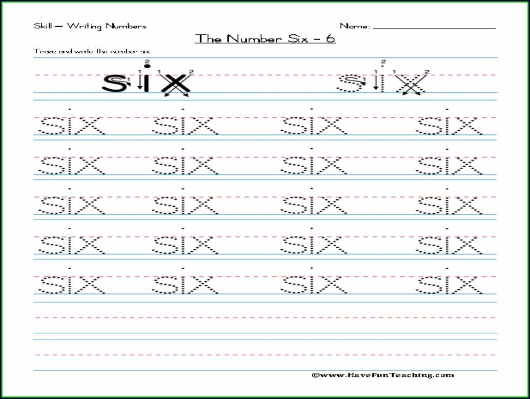 Writing Number Words Worksheet