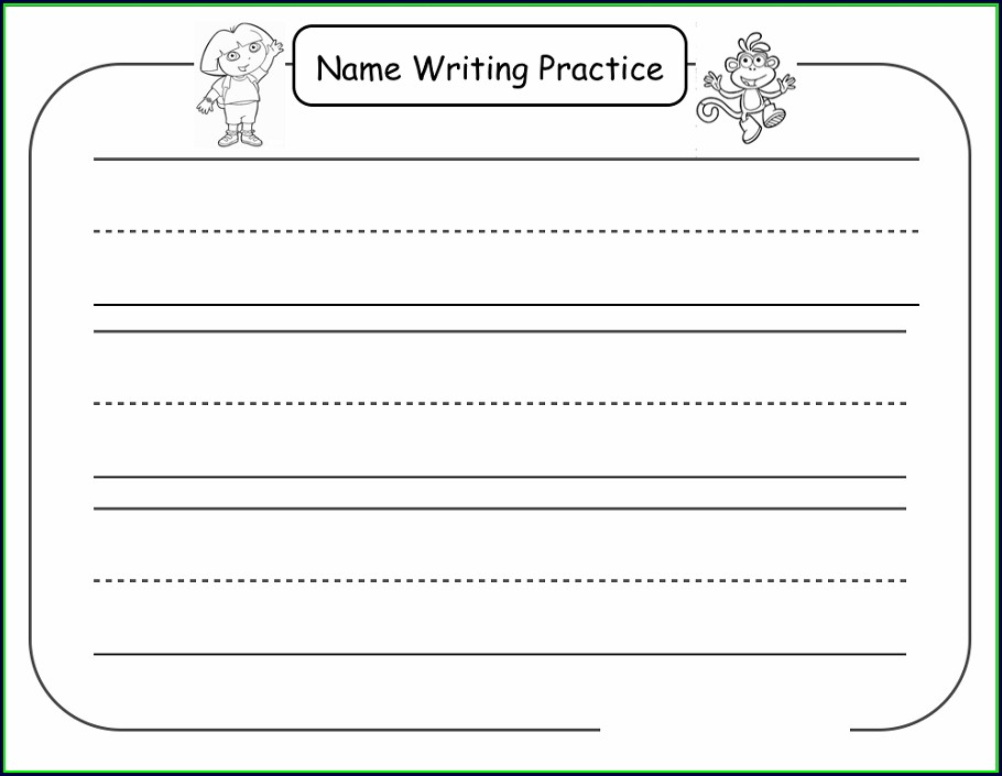 Writing Own Name Worksheets