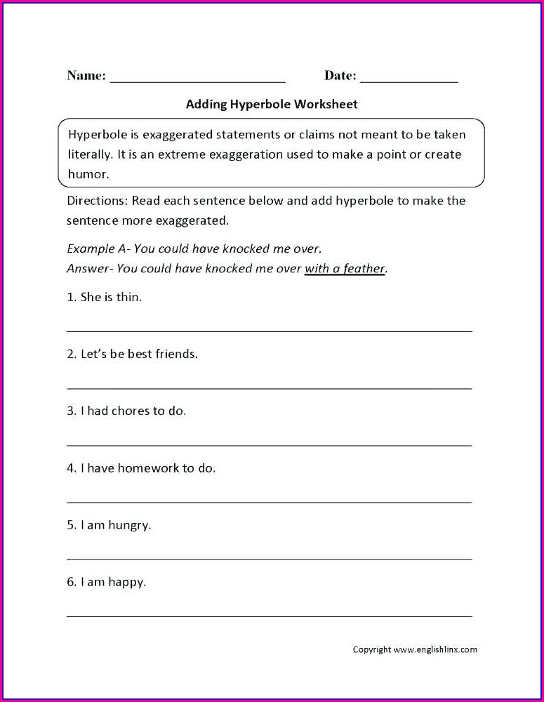 Writing Sentences Worksheets High School