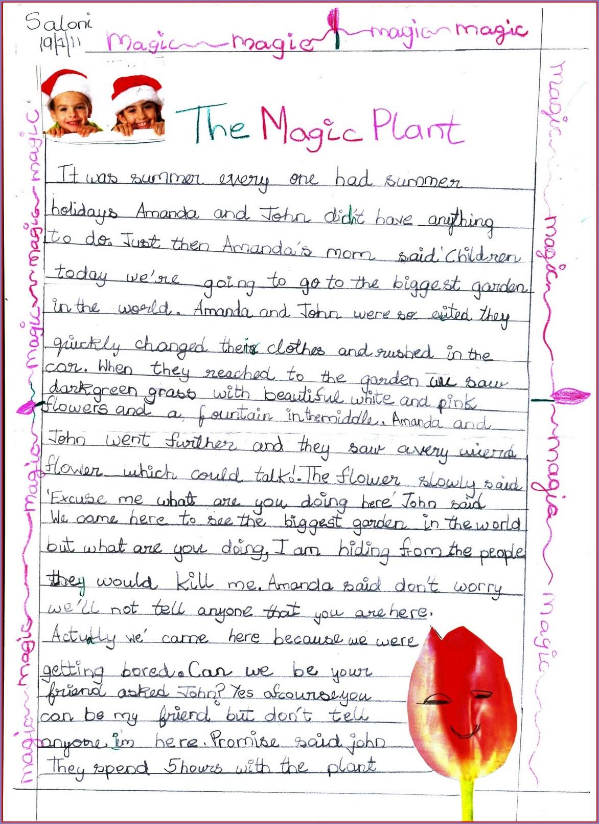 Writing Worksheet For Grade 4