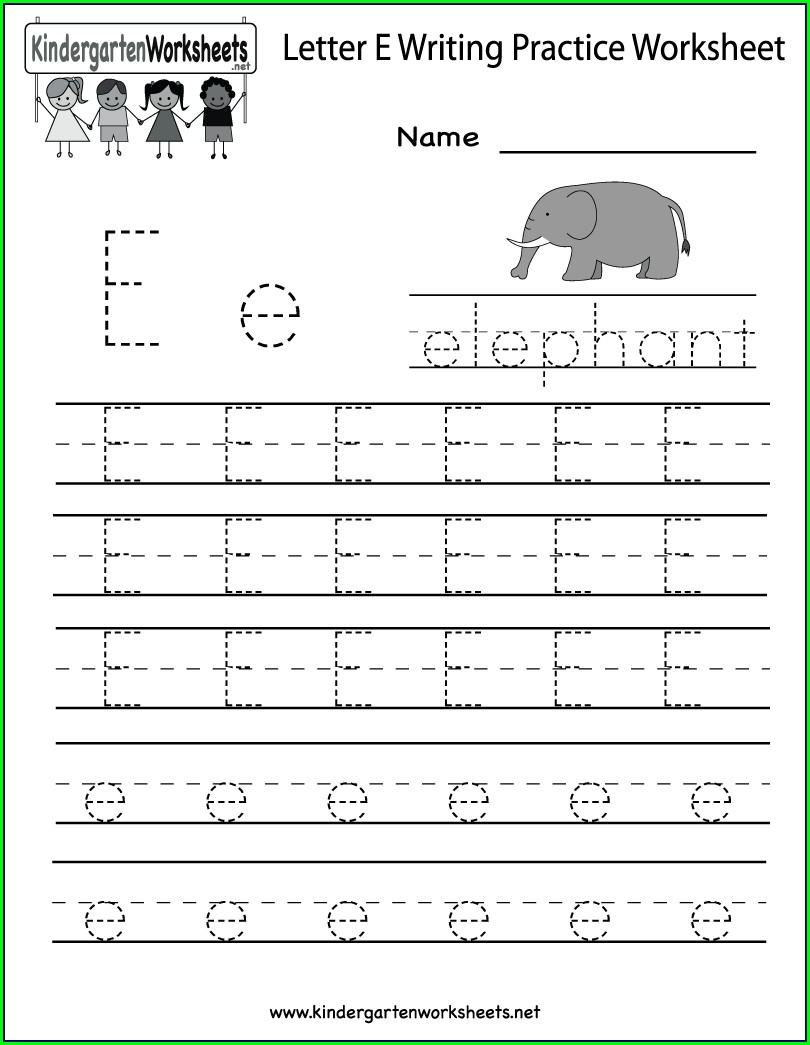 Writing Worksheet For Kindergarten English