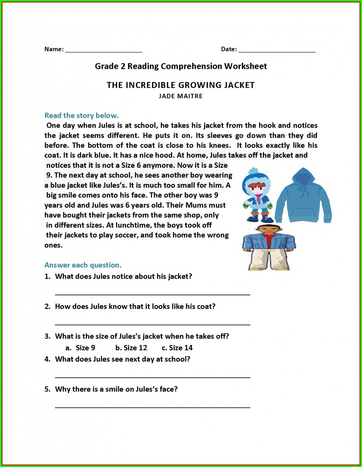 Year 3 Comprehension Worksheets Free