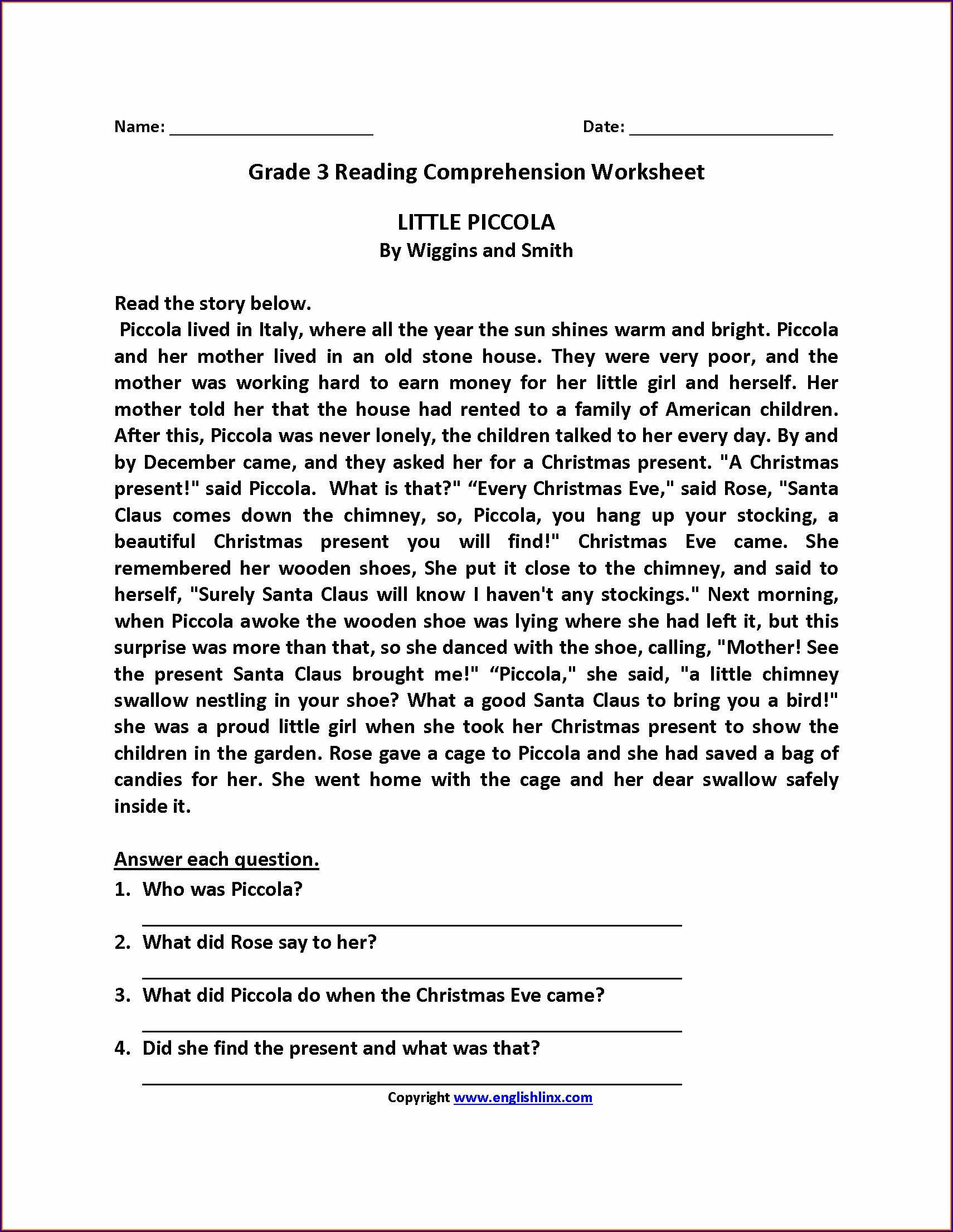 Year 3 Comprehension Worksheets Pdf Uk