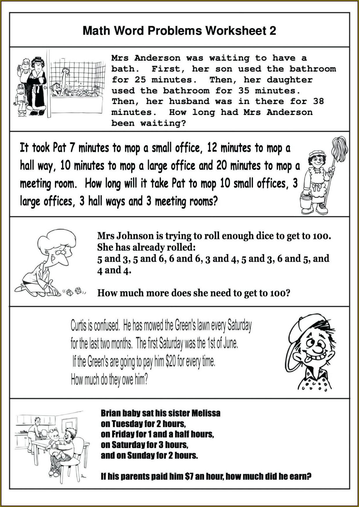 Year 3 Maths Word Problems Worksheets Pdf