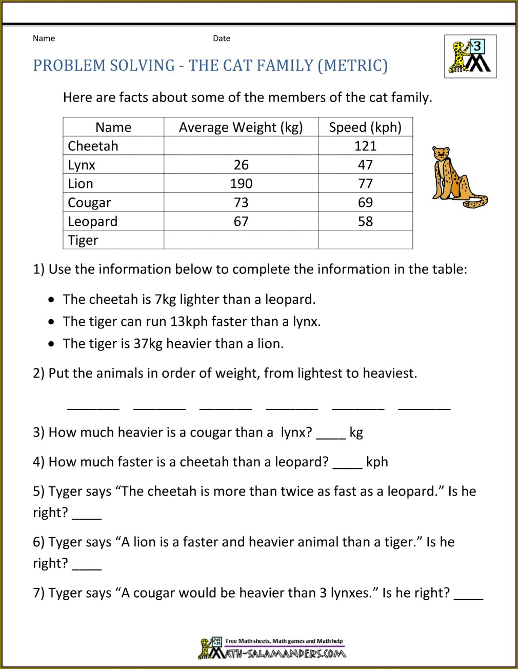 Year 3 Maths Word Problems Worksheets