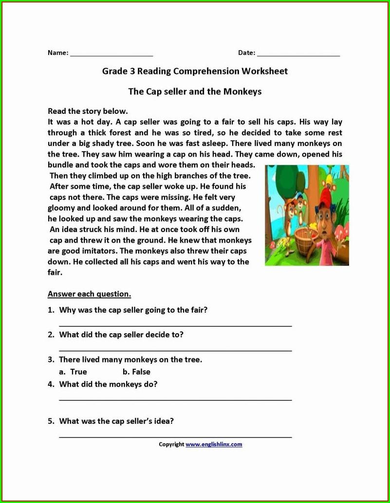 Year 3 Reading Comprehension Worksheets Free Uk
