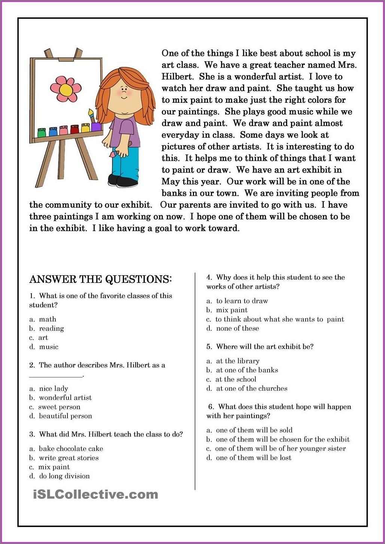 Year 4 Comprehension Worksheets Free Uk