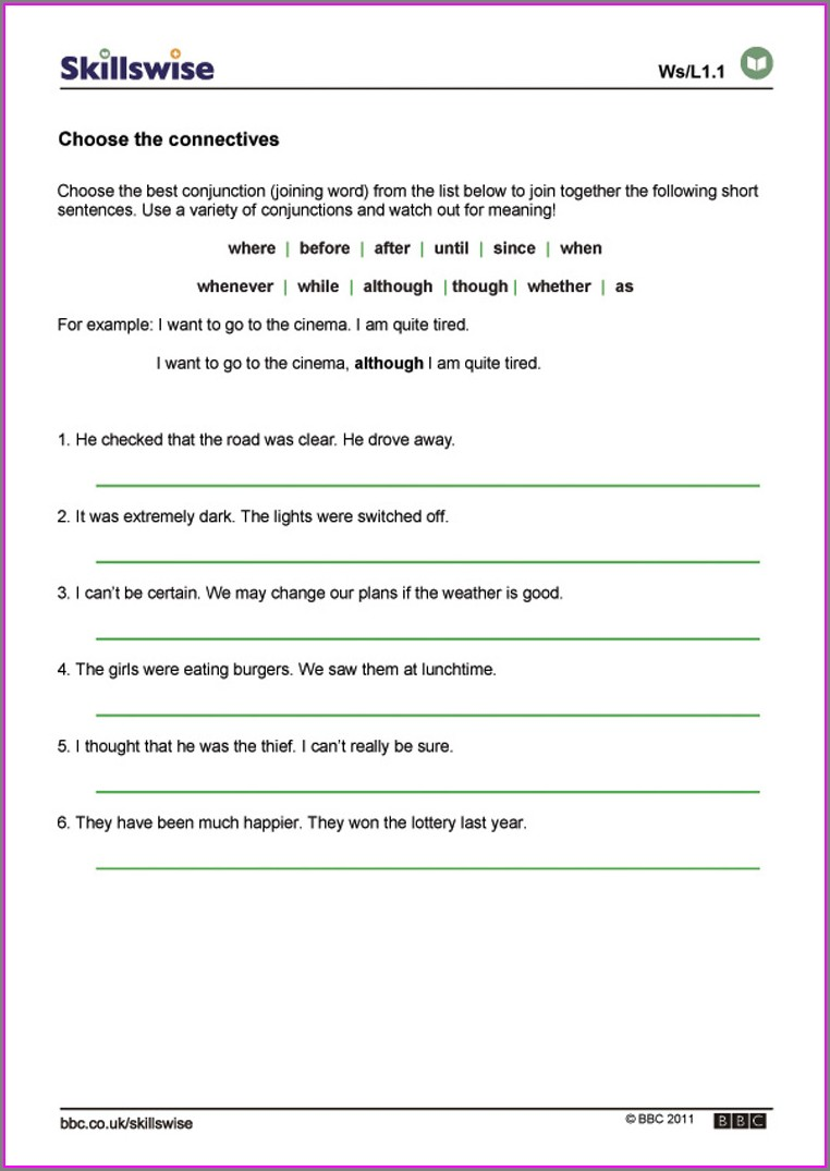 Year 6 English Worksheet Ks2