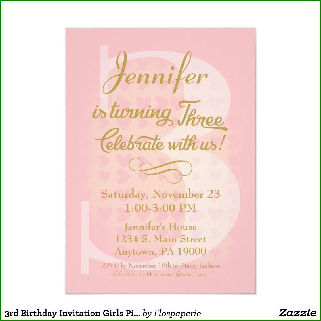 1 Year Baby Girl Birthday Invitation Card
