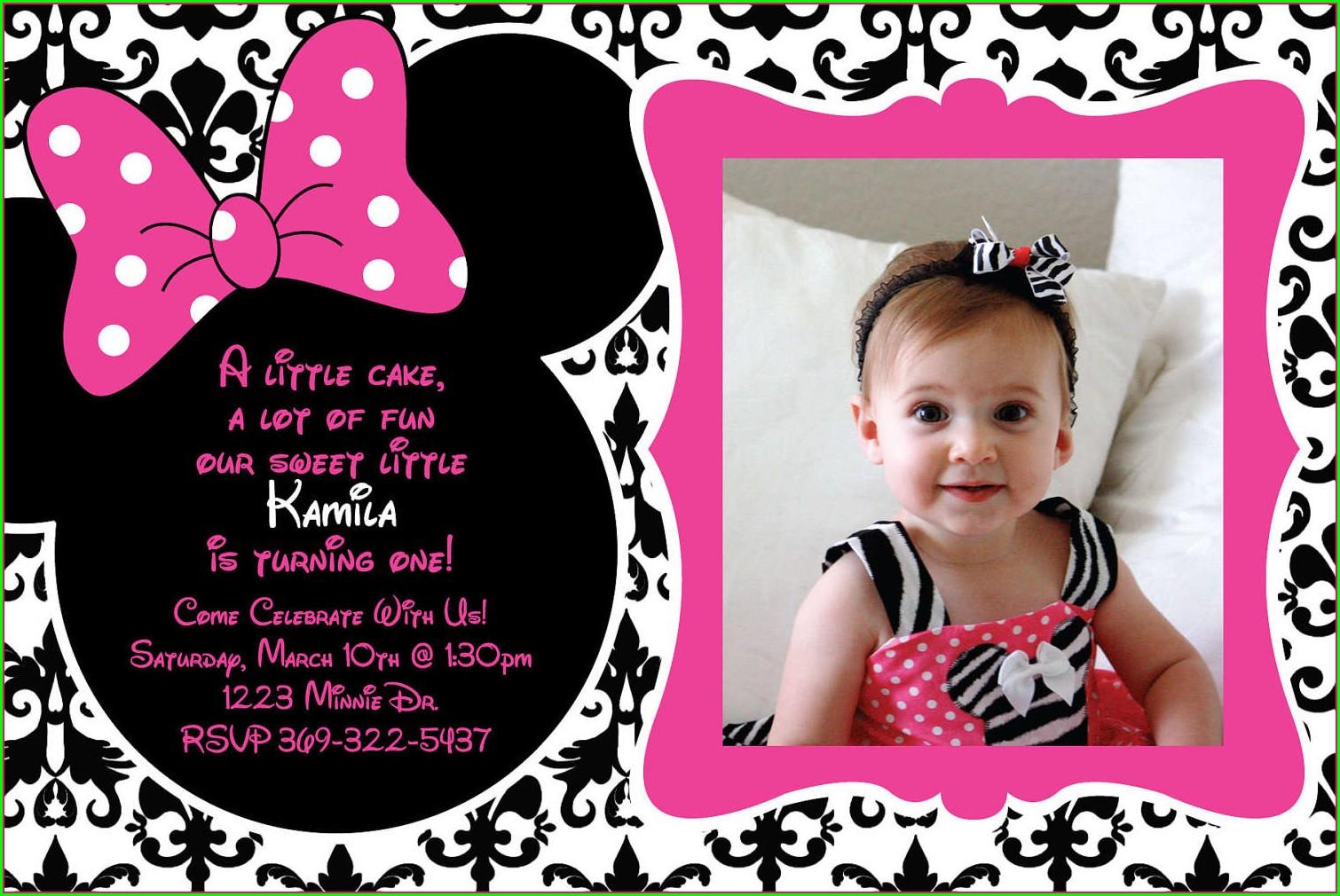 1 Year Old Birthday Invitation Templates Free