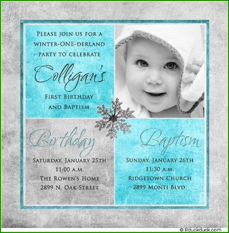 1st Birthday And Christening Invitation Templates