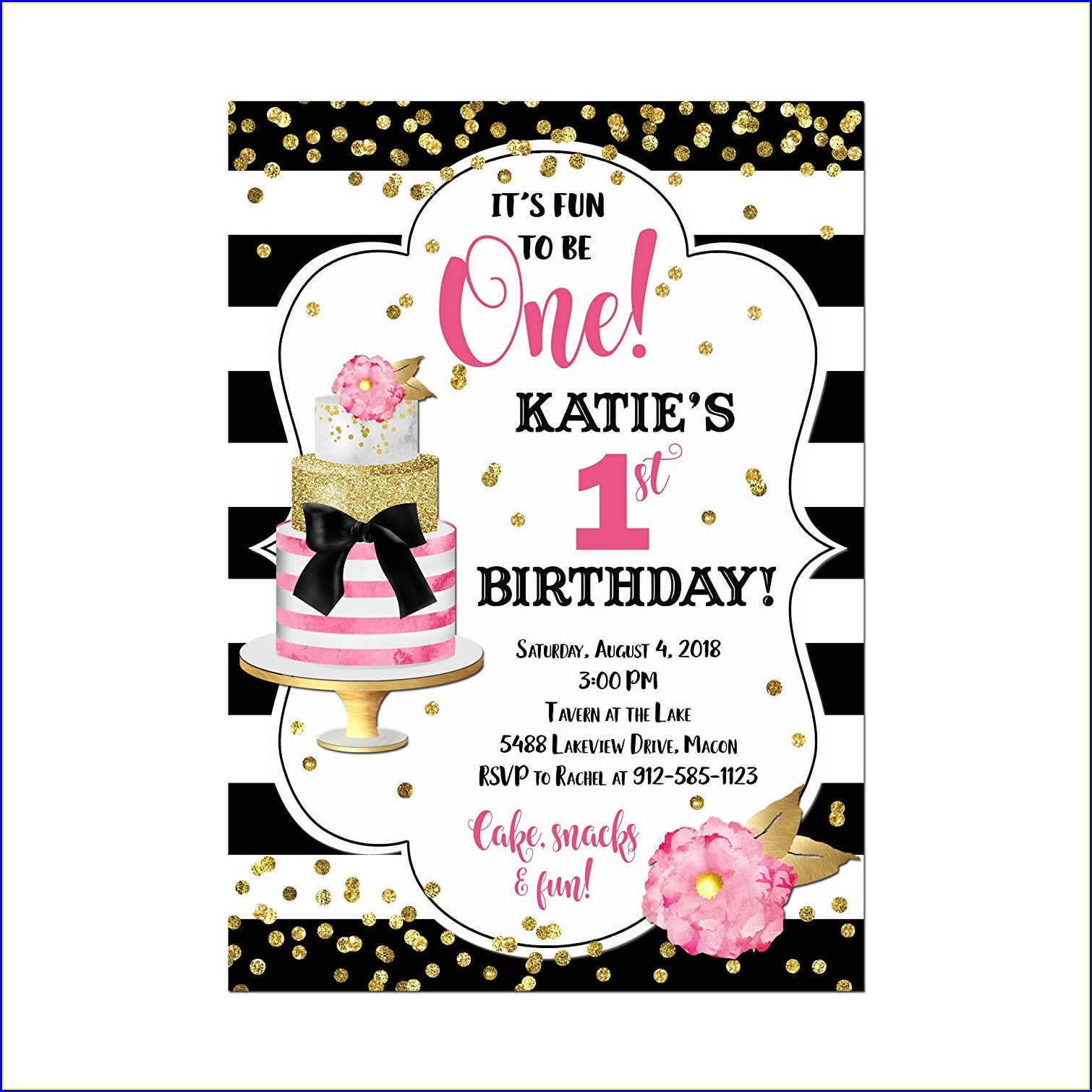 1st Birthday Invitation Card Design Online