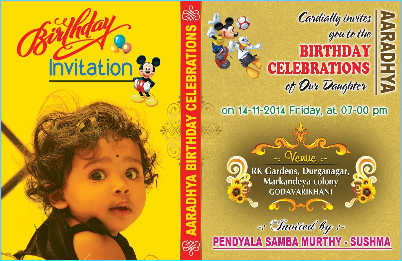 1st Birthday Invitation Card For Baby Boy India