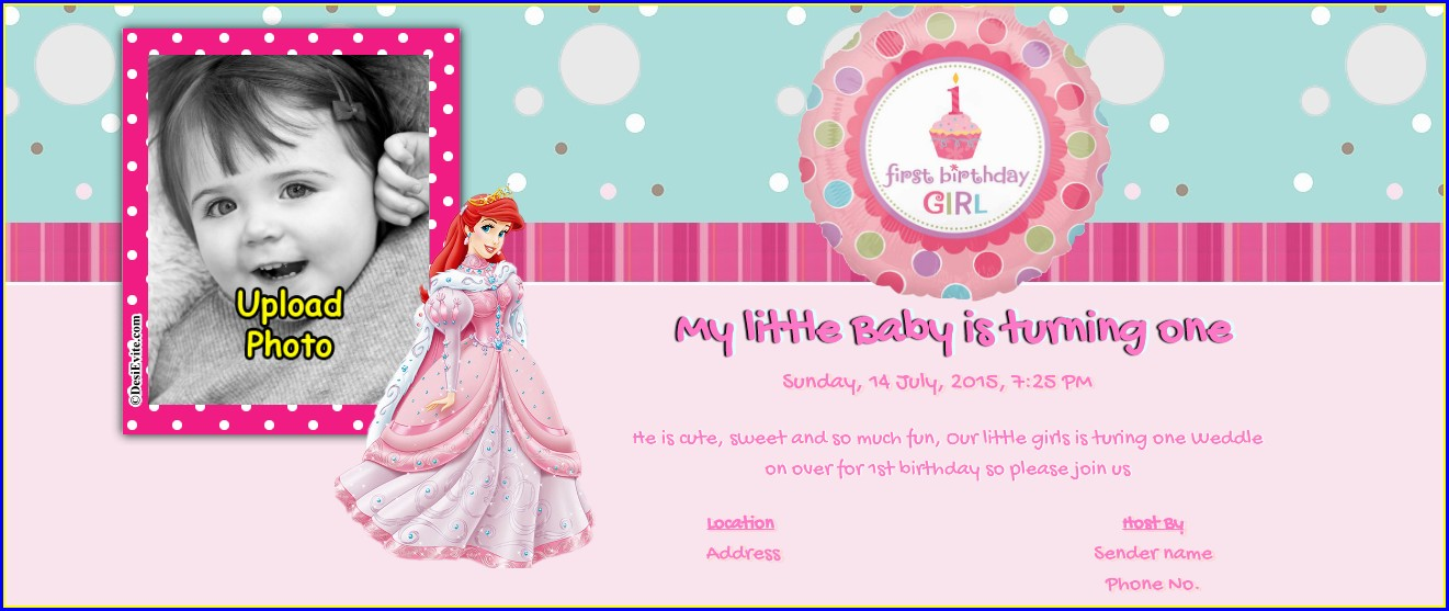 1st Birthday Invitation Card For Baby Girl In Tamil