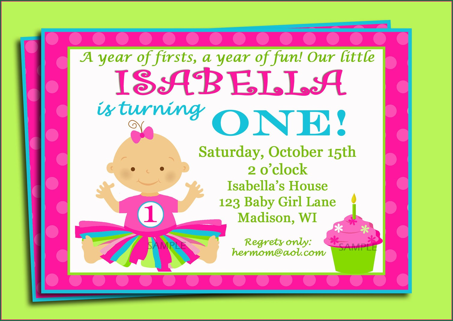 1st Birthday Invitation Message For Baby Girl In English