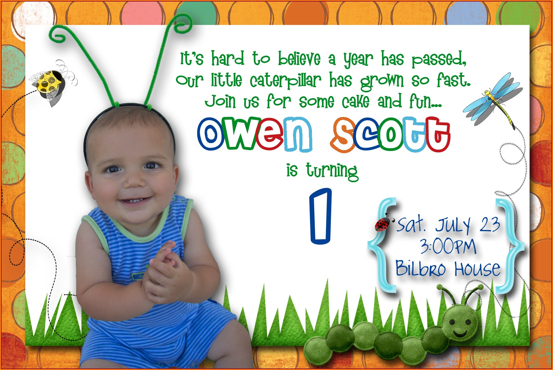1st Birthday Invitation Message Samples