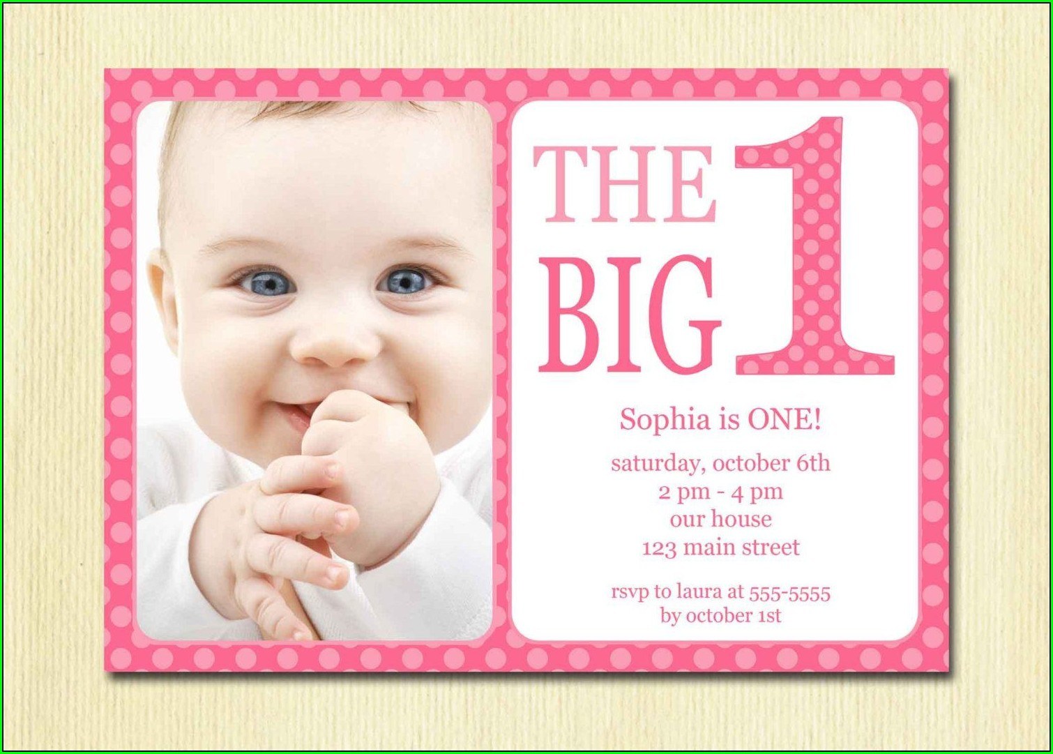 1st Birthday Invitations Girl Quotes