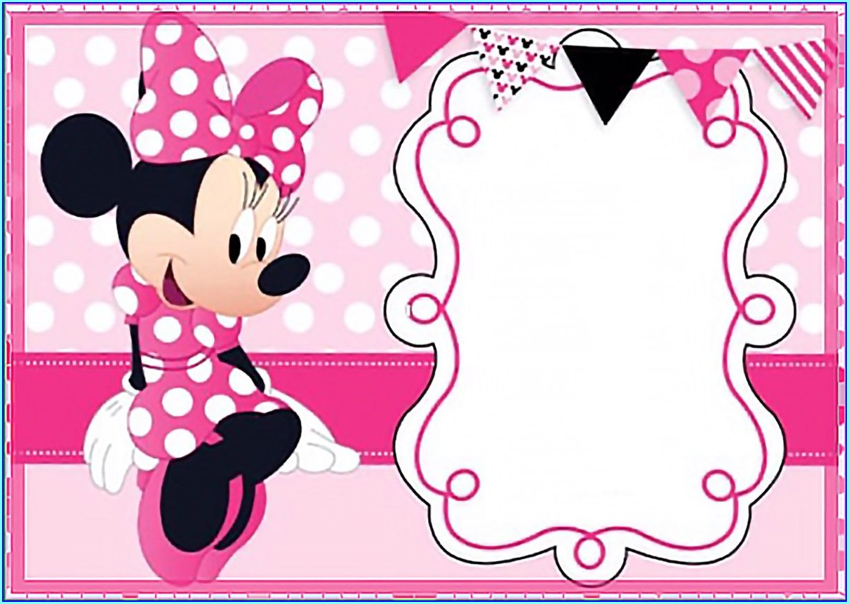 1st Birthday Minnie Mouse Invitation Layout