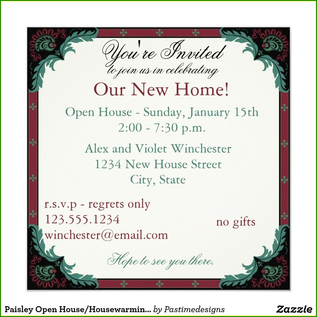 1st Birthday Open House Invitation Wording
