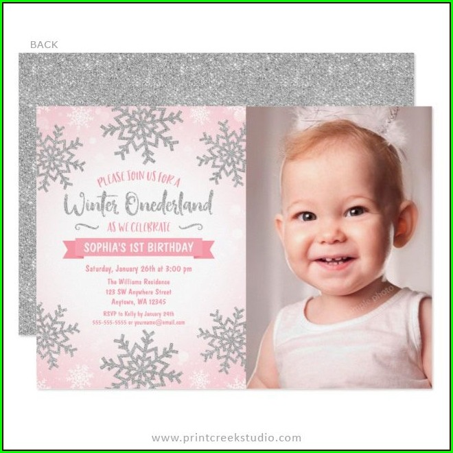 1st Birthday Photo Invitations