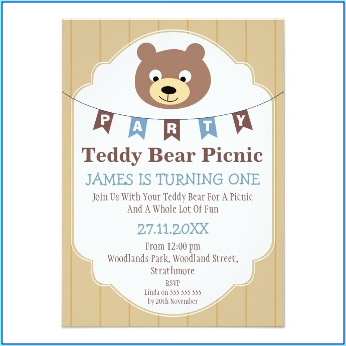 1st Birthday Picnic Invitations