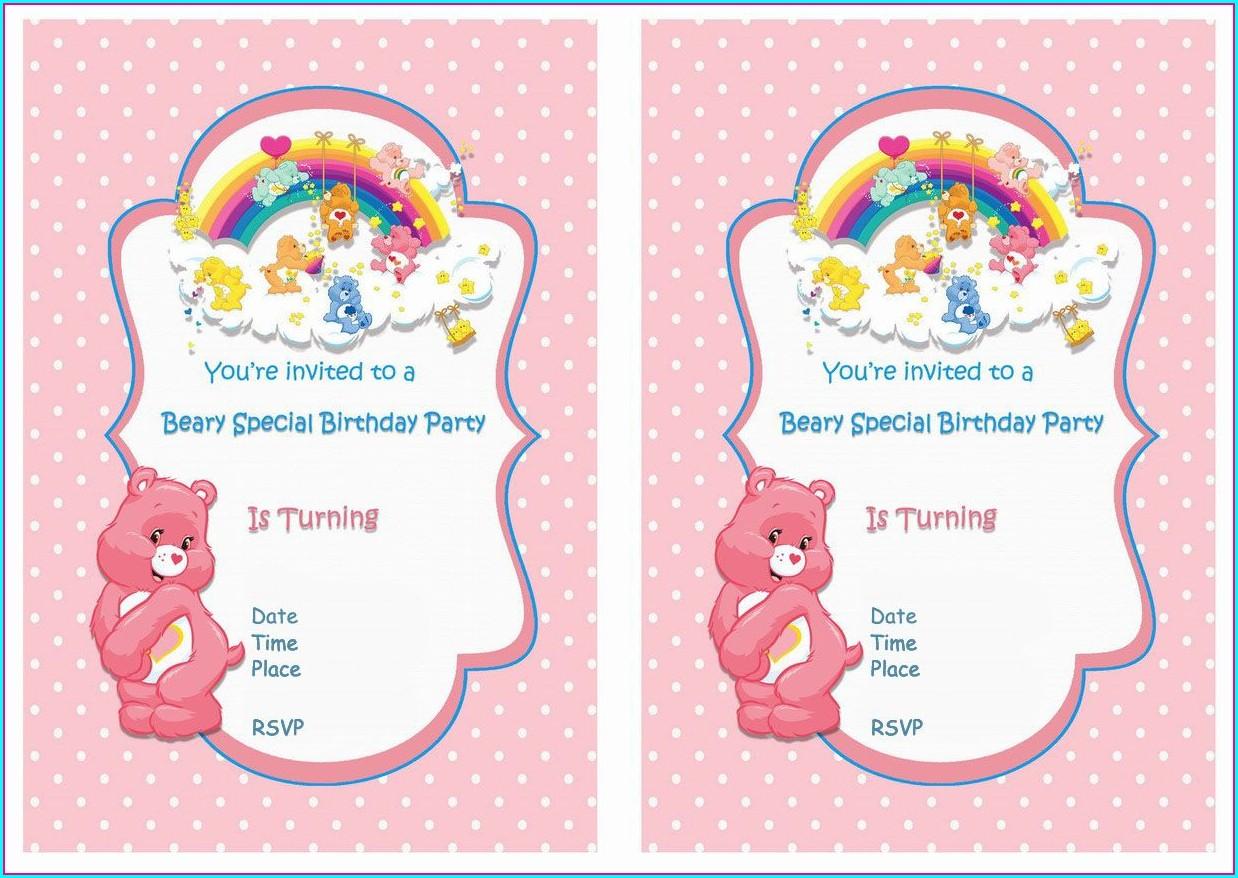 1st Birthday Teddy Bear Invitation Template Free
