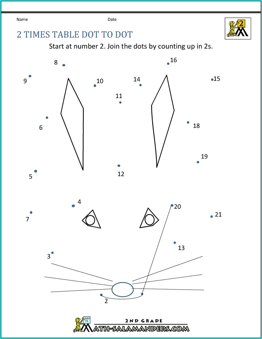 2 Times Table Worksheet Online