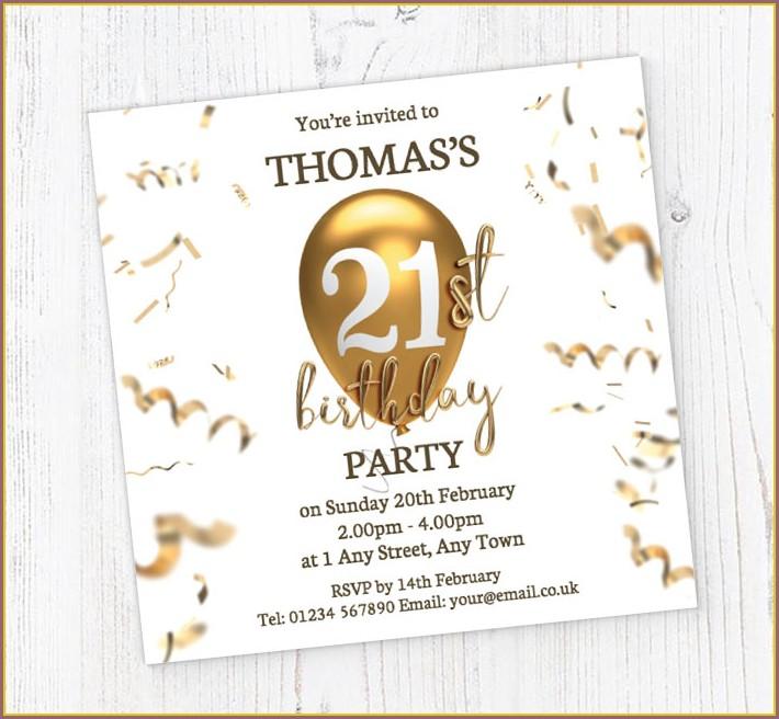 21st Birthday Invitations Online Free