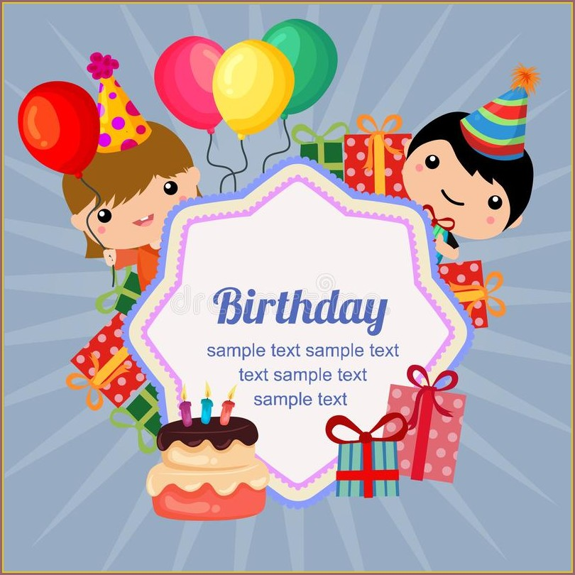 2nd Birthday Invitation Card Template