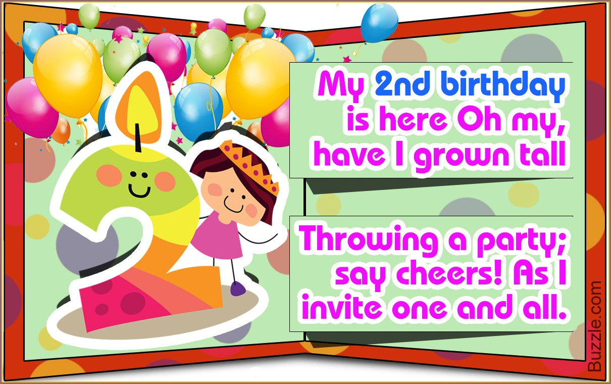 2nd Birthday Invitation Message For Boy