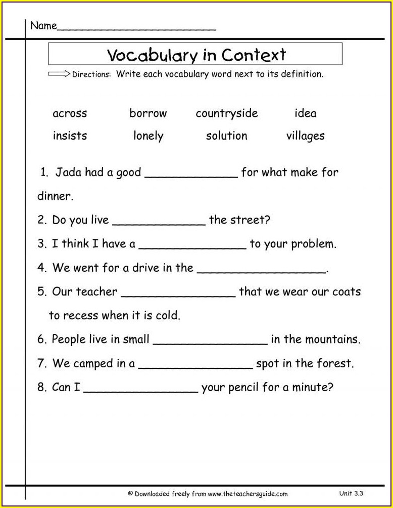 2nd Grade Library Activity Worksheets