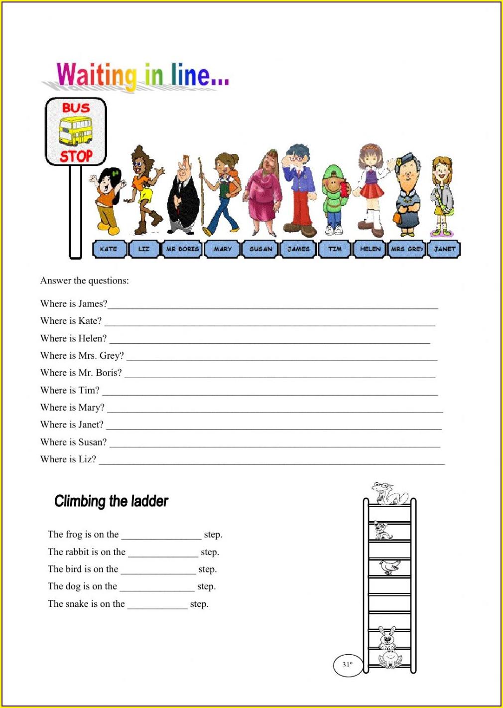 2nd Grade Ordinal Numbers Worksheet For Grade 2