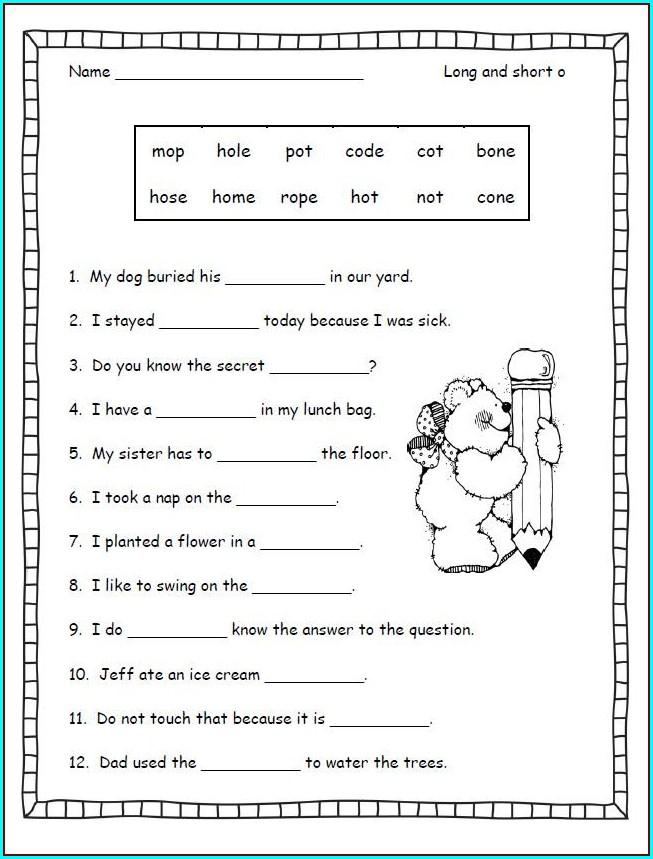 2nd Grade Three Letter Blends Worksheets