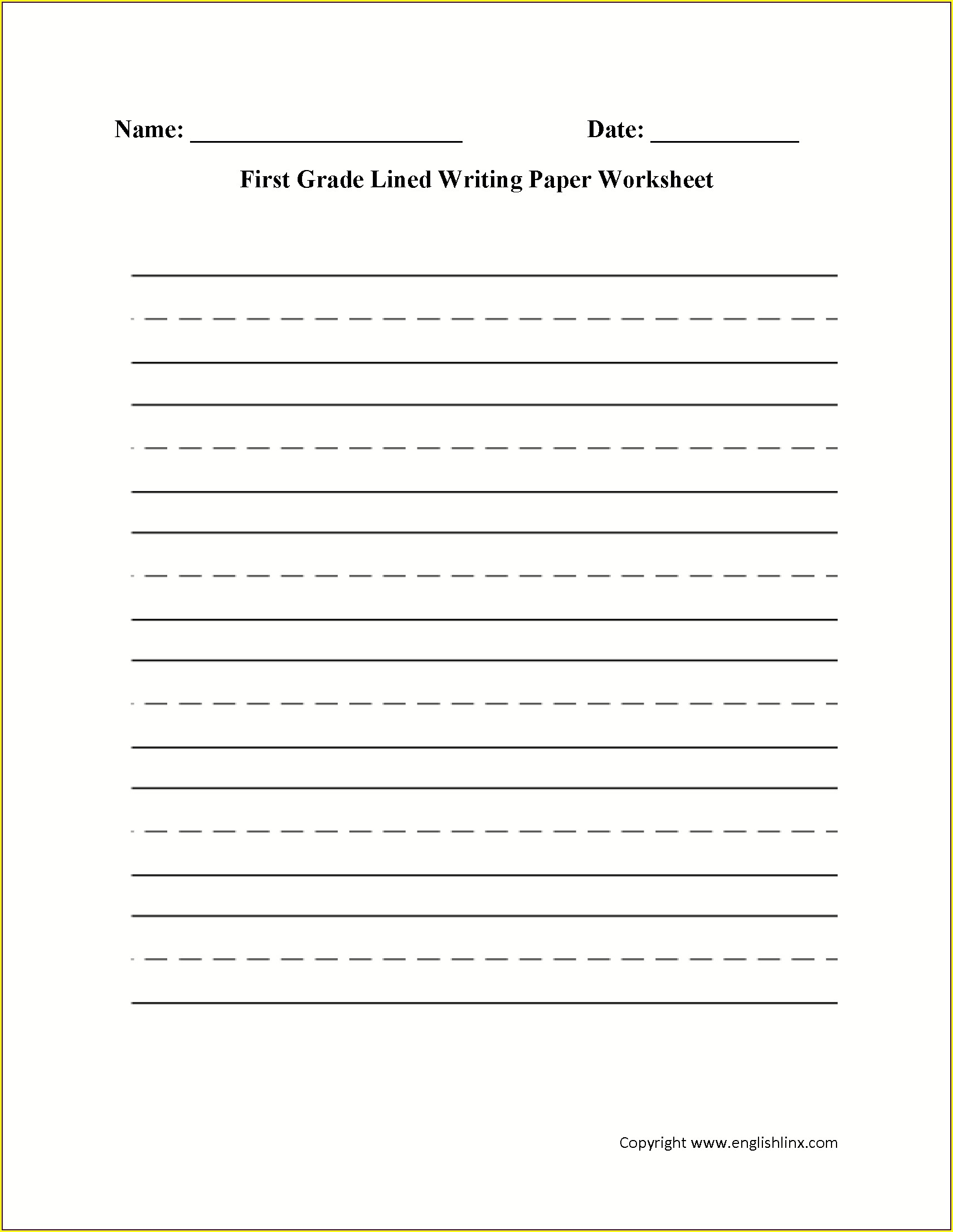 2nd Grade Writing Activity Worksheets