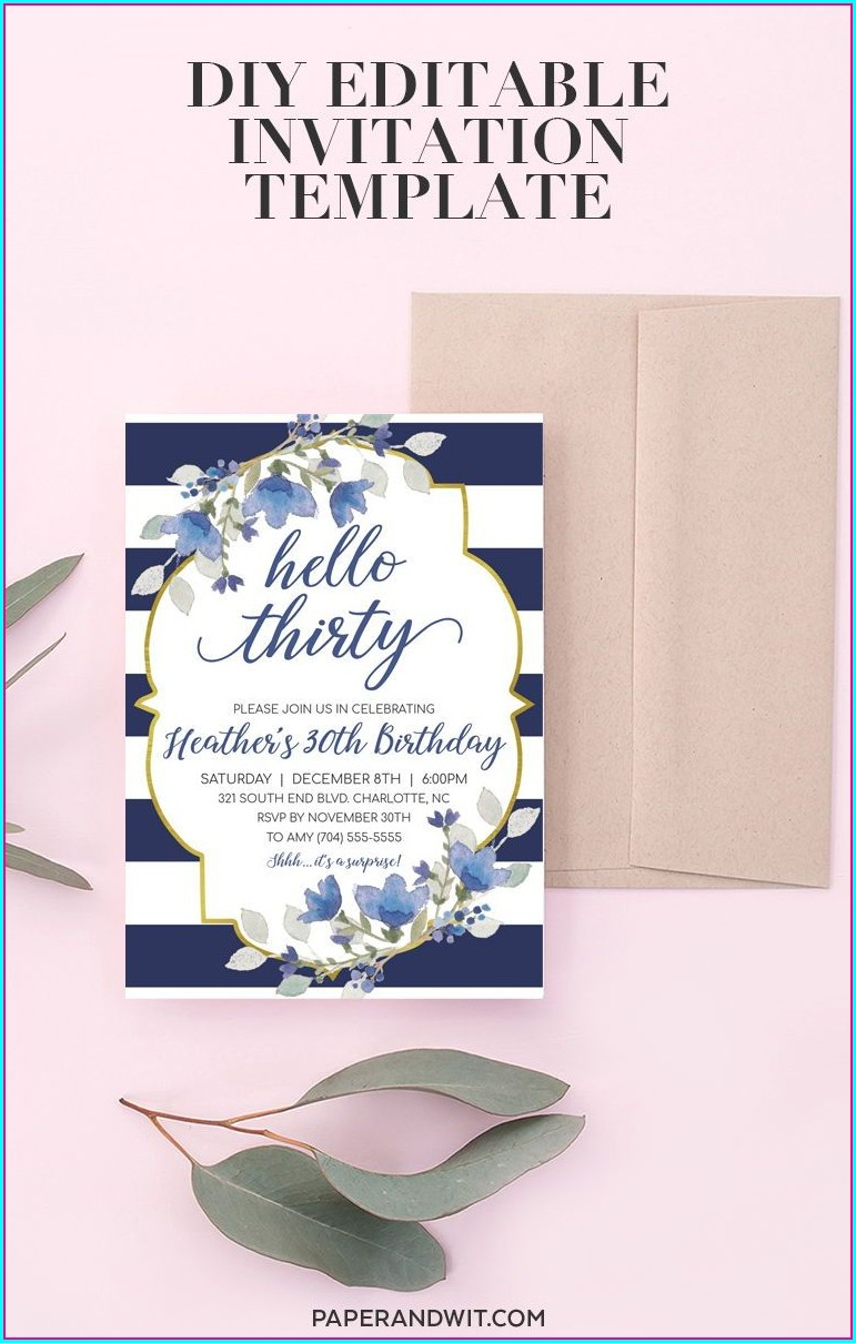 30th Birthday Party Invitations For Her
