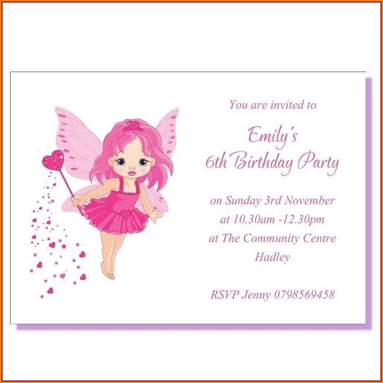 3rd Birthday Invitation Message Sample