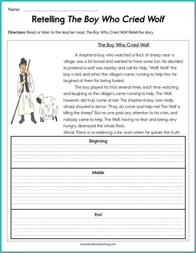 3rd Grade Retelling Stories Worksheets